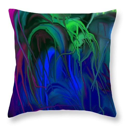 Abstract Throw Pillow featuring the digital art Vines by Ian MacDonald