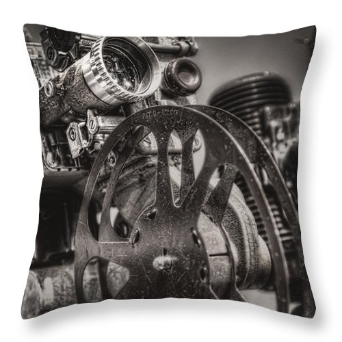 Projector Throw Pillow featuring the photograph Vintage 16mm by Scott Norris
