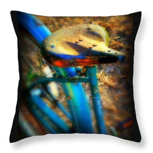 Bike Throw Pillow featuring the photograph Vintage Bike by Perry Webster