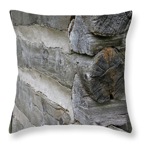 Vintage Throw Pillow featuring the photograph Vintage Construction by Ann Horn