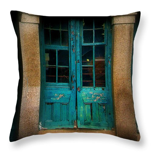 Door Throw Pillow featuring the photograph Vintage Doors by Perry Webster