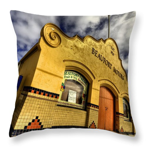 Architecture Throw Pillow featuring the photograph Vintage Gem by Wayne Sherriff