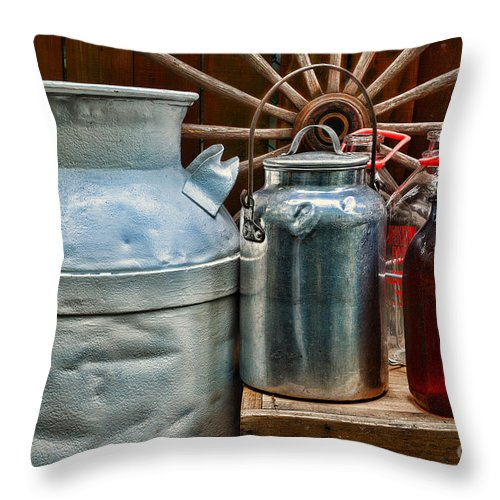 Paul Ward Throw Pillow featuring the photograph Vintage Milk by Paul Ward