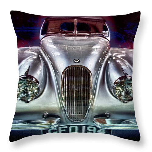 Auto Throw Pillow featuring the photograph Vintage Speedster by Chris Lord