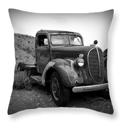 Truck Throw Pillow featuring the photograph Vintage Truck by Perry Webster