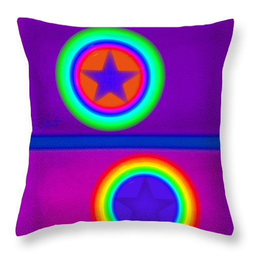 Balance Throw Pillow featuring the painting Violet Circus by Charles Stuart
