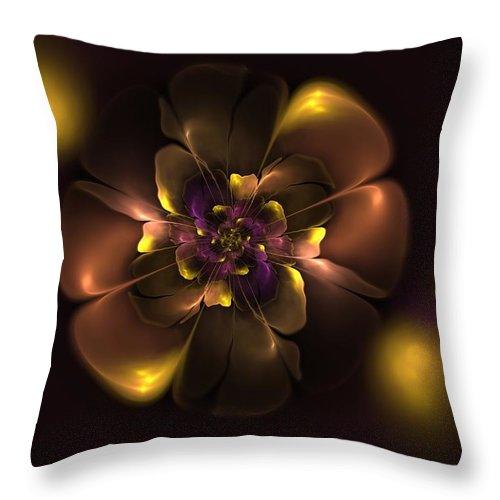 Marina Efimenko Throw Pillow featuring the digital art Violet For Daddy by Mary Raven