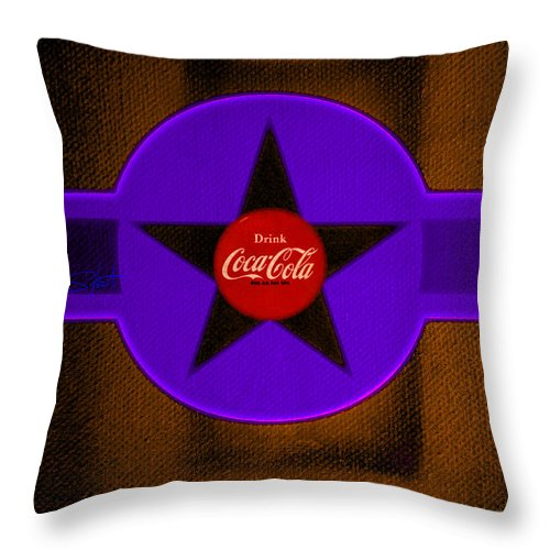 Label Throw Pillow featuring the painting Violet With Red And Orange by Charles Stuart