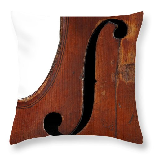 Fiddle Throw Pillow featuring the photograph Violin Clef by Michal Boubin