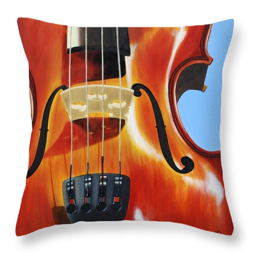Violin Throw Pillow featuring the painting Violin by Emily Page