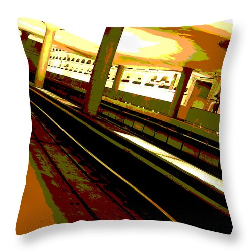 Subway Throw Pillow featuring the photograph Virginia Square Metro I by Michelle Hastings