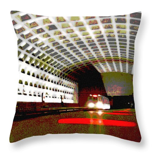 Subway Throw Pillow featuring the photograph Virginia Square Metro II by Michelle Hastings