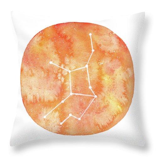 Virgo Throw Pillow featuring the painting Virgo by Stephie Jones