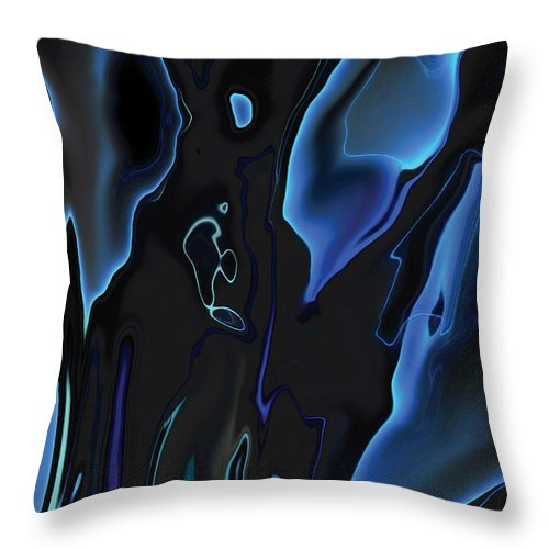 Abstract Throw Pillow featuring the digital art Virtual Life 1 by Rabi Khan