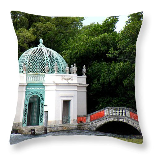 Landscape Throw Pillow featuring the photograph Viscaya by Patricia Awapara
