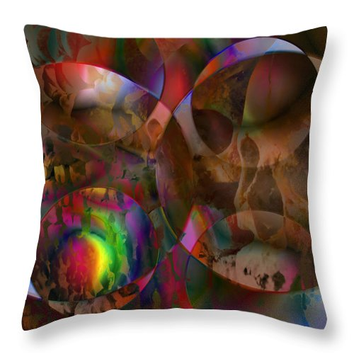 Colors Throw Pillow featuring the digital art Vision 24 by Jacques Raffin