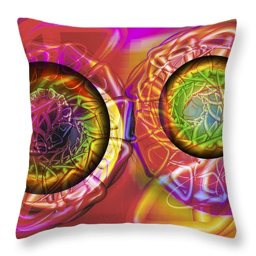 Crazy Throw Pillow featuring the digital art Vision 42 by Jacques Raffin