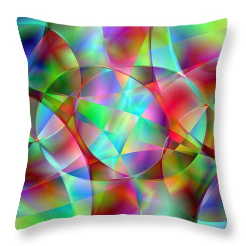 Colors Throw Pillow featuring the digital art Vision 27 by Jacques Raffin