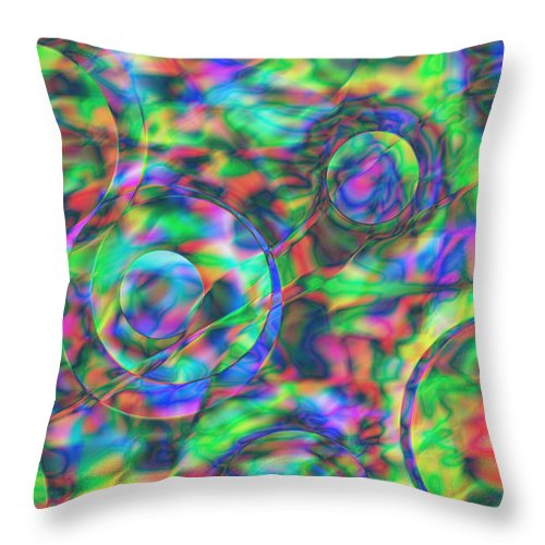 Colors Throw Pillow featuring the digital art Vision 28 by Jacques Raffin