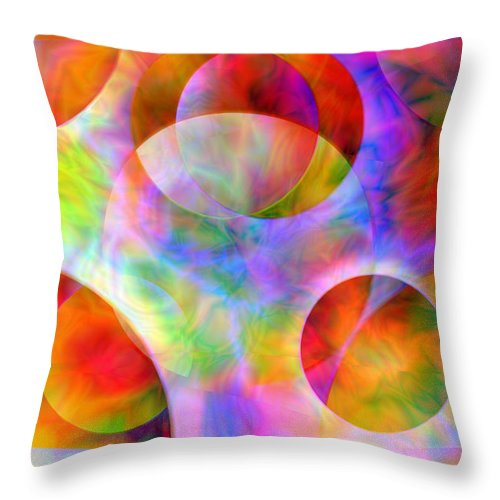 Colors Throw Pillow featuring the digital art Vision 29 by Jacques Raffin