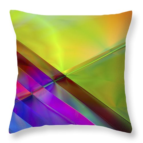 Colors Throw Pillow featuring the digital art Vision 3 by Jacques Raffin