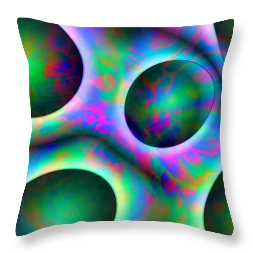 Colors Throw Pillow featuring the digital art Vision 30 by Jacques Raffin