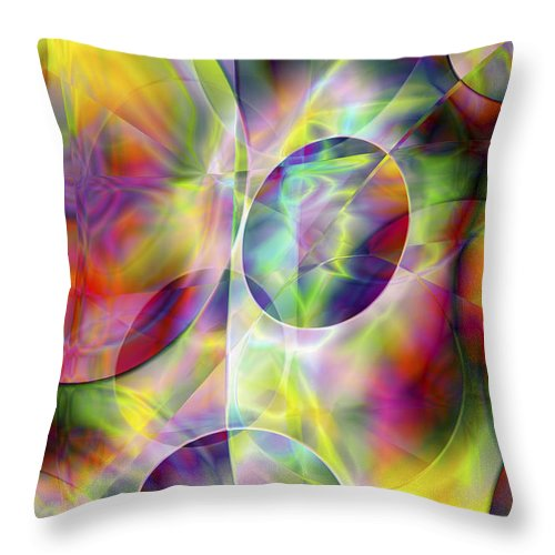 Colors Throw Pillow featuring the digital art Vision 36 by Jacques Raffin