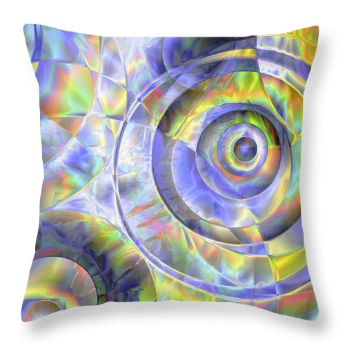 Colors Throw Pillow featuring the digital art Vision 37 by Jacques Raffin