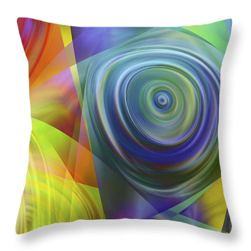 Colors Throw Pillow featuring the digital art Vision 39 by Jacques Raffin