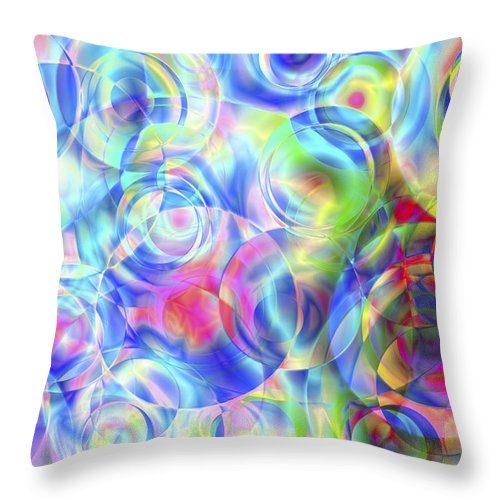 Colors Throw Pillow featuring the digital art Vision 4 by Jacques Raffin