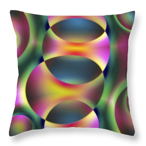 Colors Throw Pillow featuring the digital art Vision 40 by Jacques Raffin