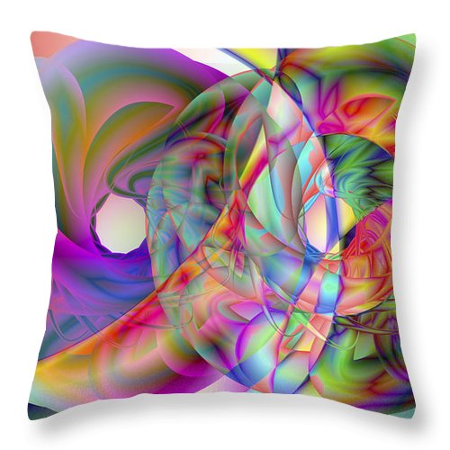 Crazy Throw Pillow featuring the digital art Vision 41 by Jacques Raffin