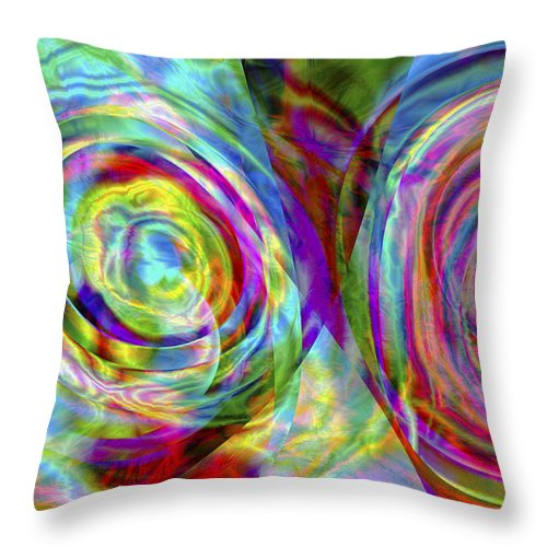 Crazy Throw Pillow featuring the digital art Vision 44 by Jacques Raffin