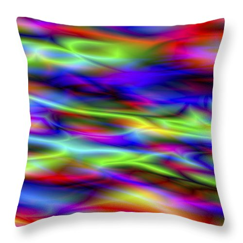 Colors Throw Pillow featuring the digital art Vision 5 by Jacques Raffin