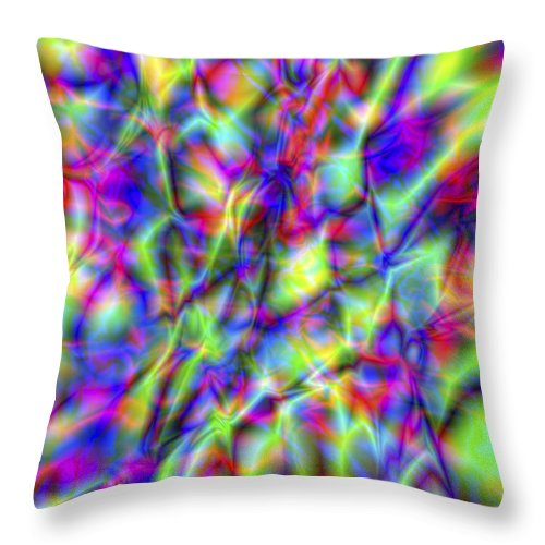 Crazy Throw Pillow featuring the digital art Vision 6 by Jacques Raffin