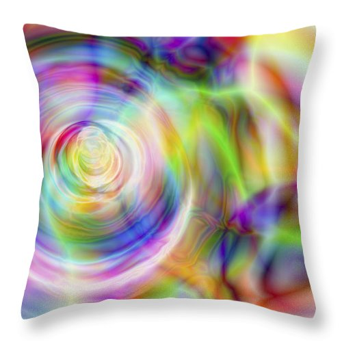 Crazy Throw Pillow featuring the digital art Vision 7 by Jacques Raffin