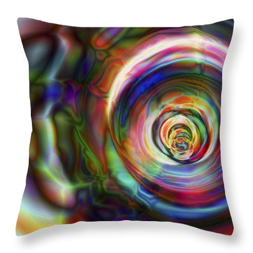 Crazy Throw Pillow featuring the digital art Vision 8 by Jacques Raffin