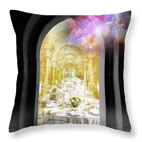 Vision Throw Pillow featuring the digital art Vision by Esther Eunjoo Jun