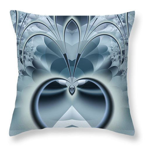Fractal Throw Pillow featuring the digital art Vision by Frederic Durville