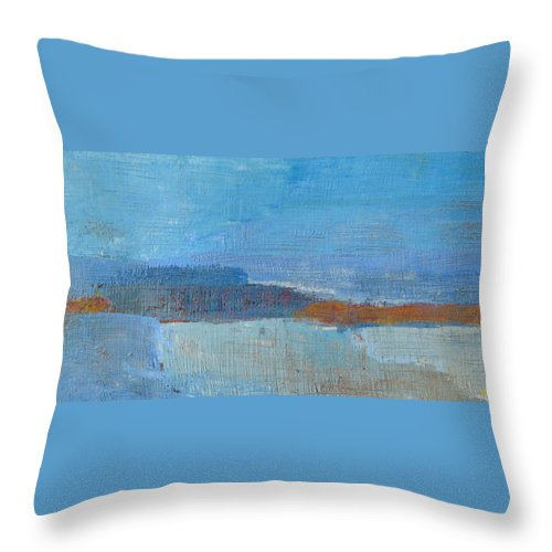 Abstract Throw Pillow featuring the painting Vision by Habib Ayat