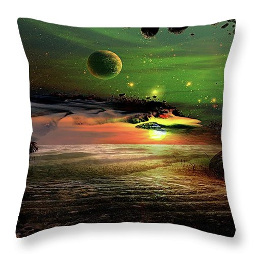 Throw Pillow featuring the digital art Visions In My Head by Wesley Nesbitt