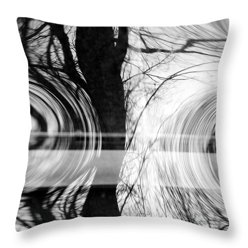 Abstracts Throw Pillow featuring the photograph Visual Funk 2 by Linda McRae