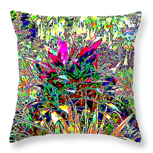 Square Throw Pillow featuring the digital art Viva by Eikoni Images