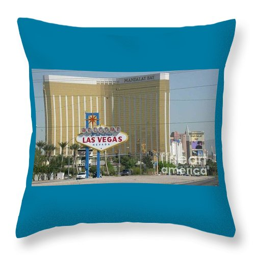 Vegas Throw Pillow featuring the photograph Viva Las Vegas by Barb Montanye Meseroll