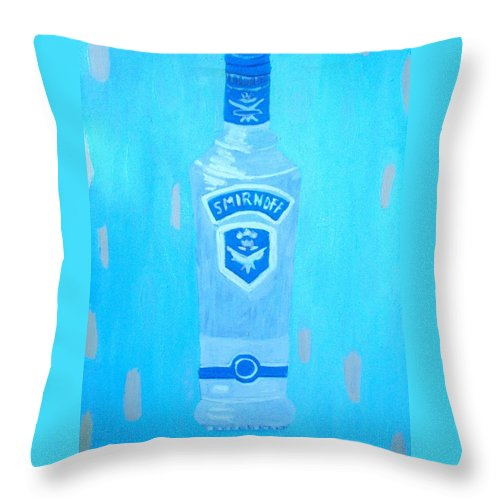 Pop Art Throw Pillow featuring the painting Vodka by Patrice Tullai
