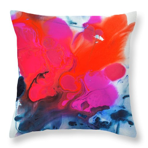 Abstract Throw Pillow featuring the painting Voice by Claire Desjardins
