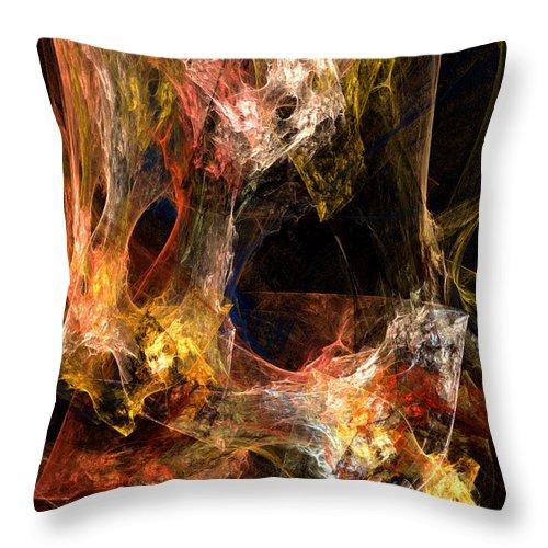 ruth Palmer Throw Pillow featuring the digital art Voids by Ruth Palmer
