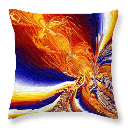 Abstract Throw Pillow featuring the digital art Volcanicity by Charmaine Zoe