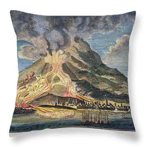 1783 Throw Pillow featuring the photograph Volcano: Mt. Etna by Granger