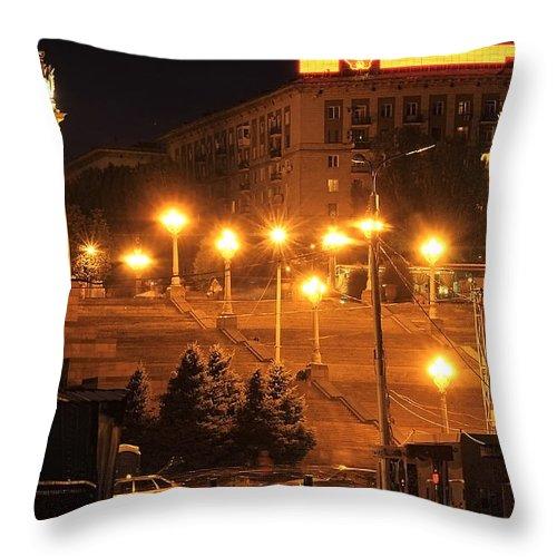 Volgograd Throw Pillow featuring the photograph Volgograd Riverside by Svetlana Sewell
